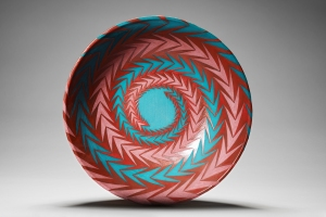 Spiral arrows ceramic bowl