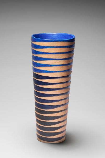 Oval sprial vase