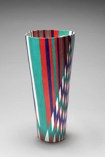 Woven ceramic vase
