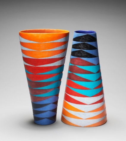 Tall Oval Vase, Arrow Heads (i) & (ii)