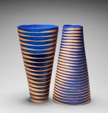 Tall Oval Vase, Spirals (i) & (ii)