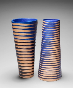 Oval sprial vases