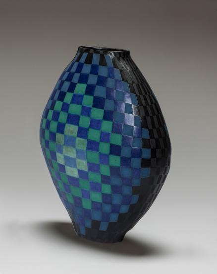 Flat blue black 1 print