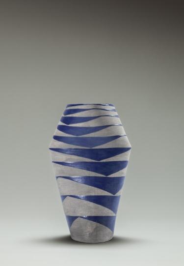 Vase blue grey 3 print