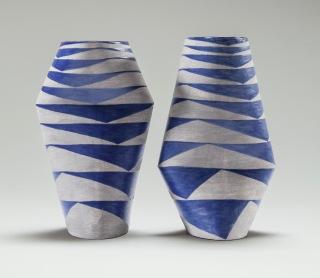Twisted Oval Vase, Arrow Heads (i) & (ii)