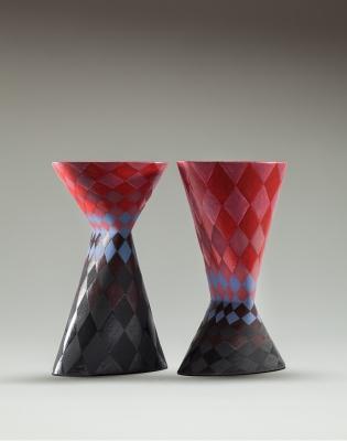 Vase red black pair 1 print