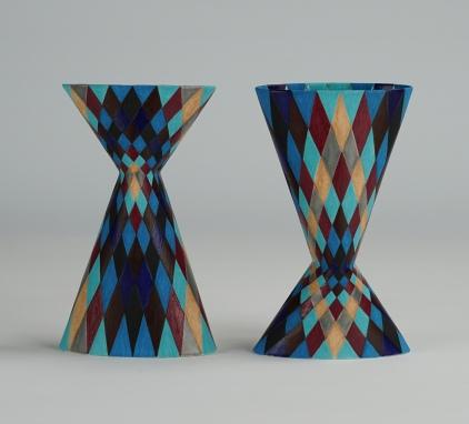 Cinched Oval Vase, Harlequin (i) & (ii)