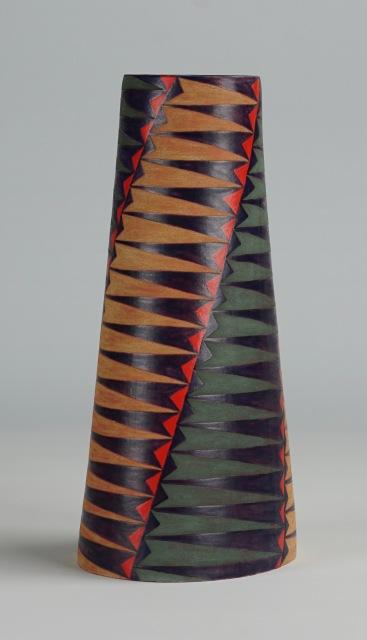 Tall Oval Vase, Spiral (iii)